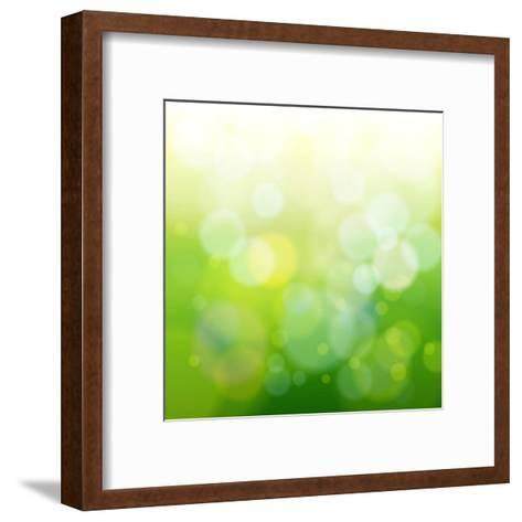 Green Bokeh Abstract Light--Vladimir--Framed Art Print