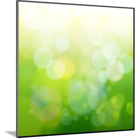 Green Bokeh Abstract Light--Vladimir--Mounted Art Print