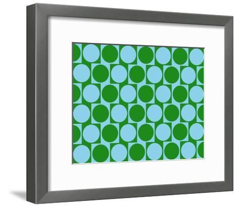 Optical Illusion Cafe Wall Effect Circles Light Blue Green-Luis Stortini Sabor aka CVADRAT-Framed Art Print