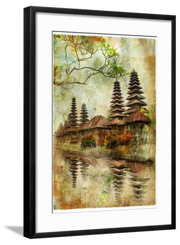 Mysterious Balinese Temples, Artwork In Painting Style-Maugli-l-Framed Art Print