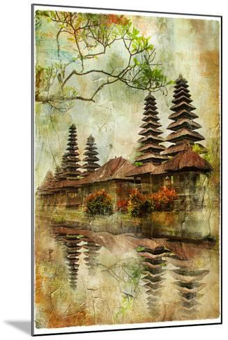 Mysterious Balinese Temples, Artwork In Painting Style-Maugli-l-Mounted Art Print