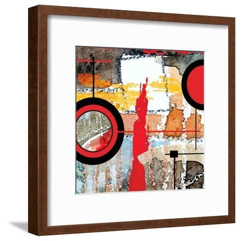 Abstract Art Collage, Mixed Media And Watercolor On Paper-Andriy Zholudyev-Framed Art Print