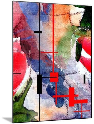 Abstract Art Collage, Mixed Media And Watercolor On Paper-Andriy Zholudyev-Mounted Art Print