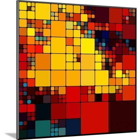 Art Abstract Vibrant Rainbow Geometric Pattern Background-Irina QQQ-Mounted Art Print