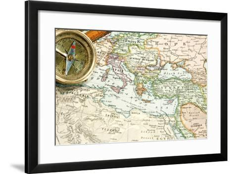 Vintage (1907 Copyrighted Expired) Map Of Europe And Asia-Cmcderm1-Framed Art Print