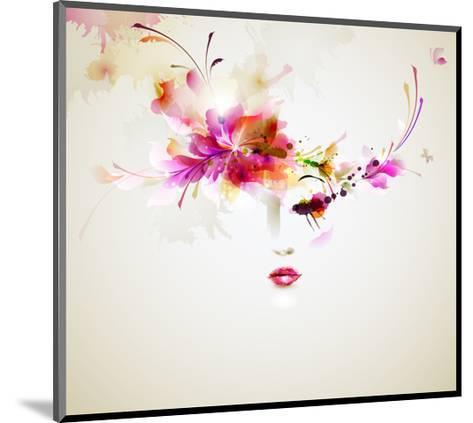 Beautiful Fashion Women With Abstract Design Elements-artant-Mounted Art Print