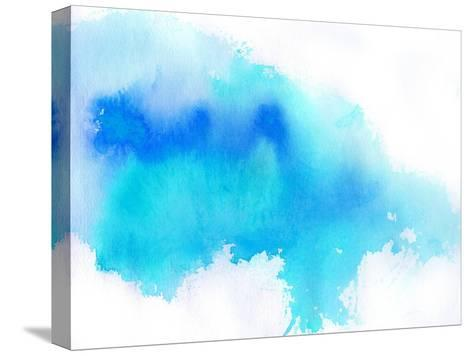 Blue Spot, Watercolor Abstract Hand Painted Background-katritch-Stretched Canvas Print