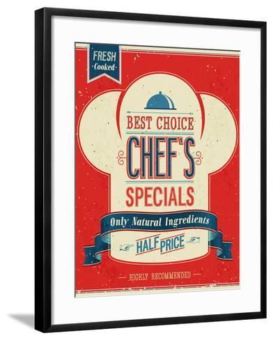 Vintage Chef`S Specials Poster-avean-Framed Art Print