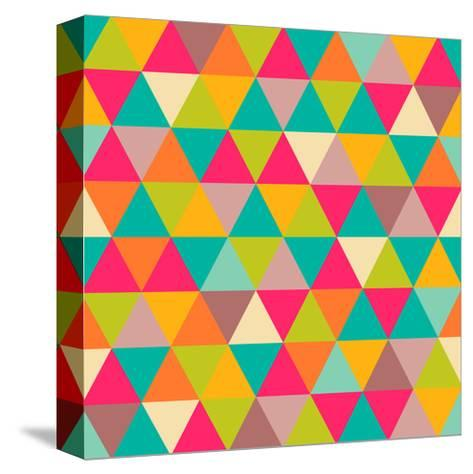 Abstract Geometric Triangle Seamless Pattern-Heizel-Stretched Canvas Print