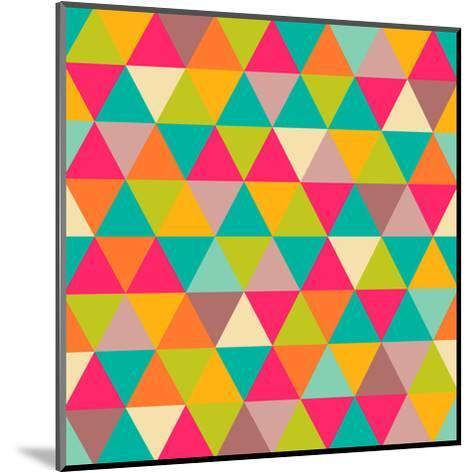Abstract Geometric Triangle Seamless Pattern-Heizel-Mounted Art Print