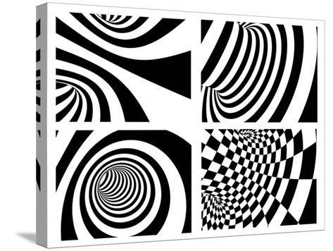 Abstract - Black And White-frenta-Stretched Canvas Print