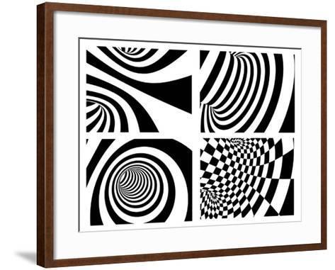 Abstract - Black And White-frenta-Framed Art Print
