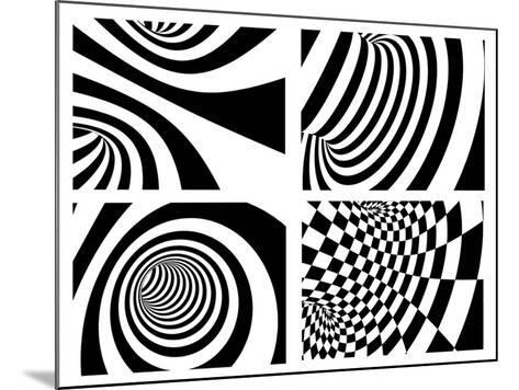 Abstract - Black And White-frenta-Mounted Art Print