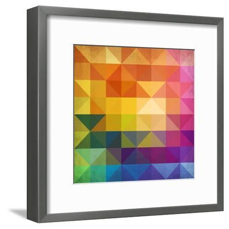 Abstract Vibrant Triangles-art_of_sun-Framed Art Print