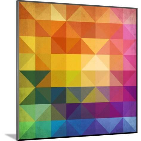 Abstract Vibrant Triangles-art_of_sun-Mounted Art Print