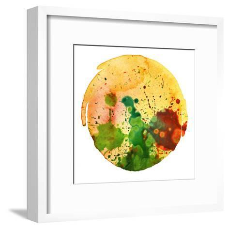Abstract Watercolor Painting Blot Background-Rudchenko Liliia-Framed Art Print