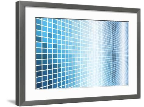 Simple And Clean Background Abstract In Grid-kentoh-Framed Art Print