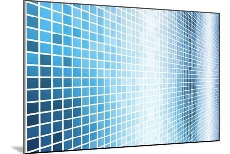 Simple And Clean Background Abstract In Grid-kentoh-Mounted Art Print