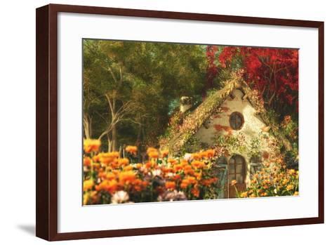 The Garden Cottage, 3D Computer Graphics-Atelier Sommerland-Framed Art Print