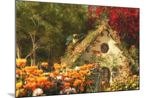 The Garden Cottage, 3D Computer Graphics-Atelier Sommerland-Mounted Art Print