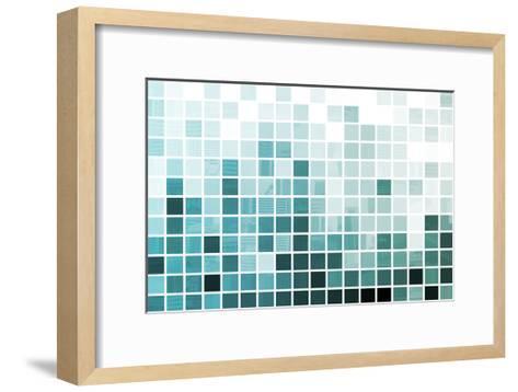 Blue Simplistic And Minimalist Abstract-kentoh-Framed Art Print