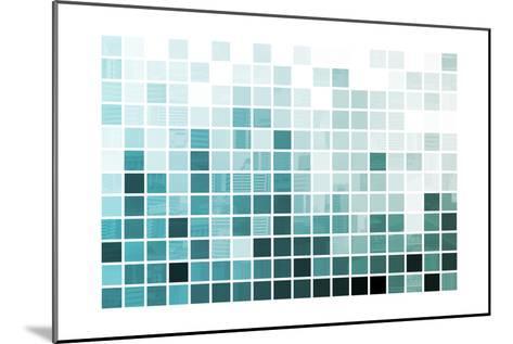 Blue Simplistic And Minimalist Abstract-kentoh-Mounted Art Print