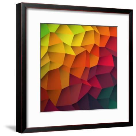 Abstract Colorful Patches Background-pashabo-Framed Art Print