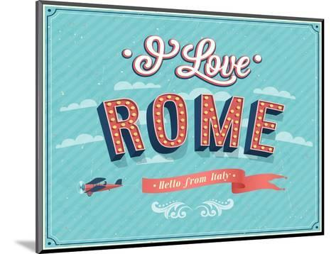 Vintage Greeting Card From Rome - Italy-MiloArt-Mounted Art Print