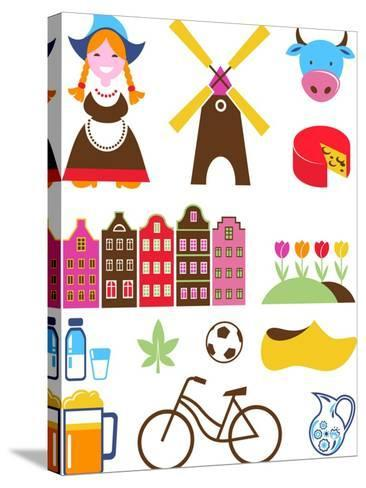 Collection Of Netherlands Icons-Marish-Stretched Canvas Print