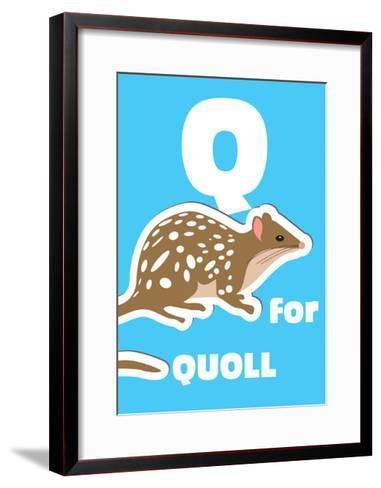Q For The Quoll, An Animal Alphabet For The Kids-Elizabeta Lexa-Framed Art Print