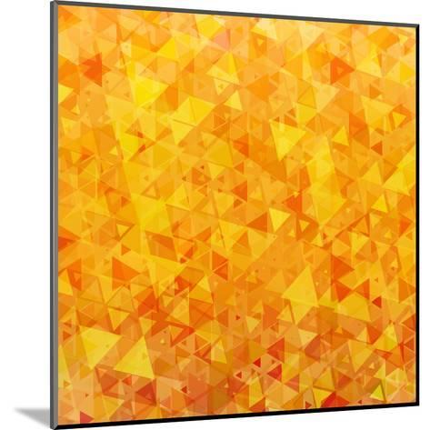 Bright Orange Scattered Triangles Background-Enka Parmur-Mounted Art Print