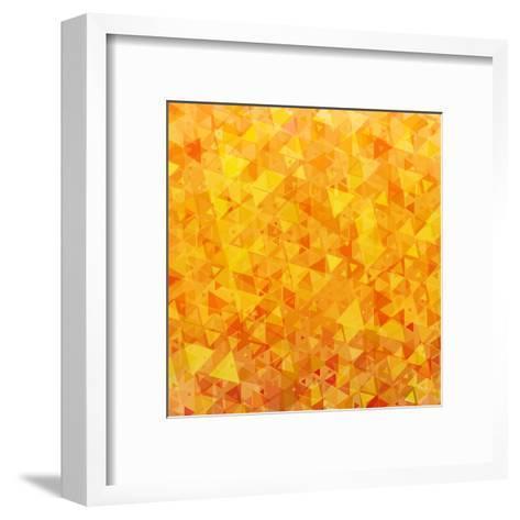 Bright Orange Scattered Triangles Background-Enka Parmur-Framed Art Print