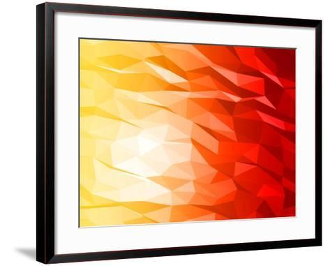 Abstract 3D Triange-Piko72-Framed Art Print