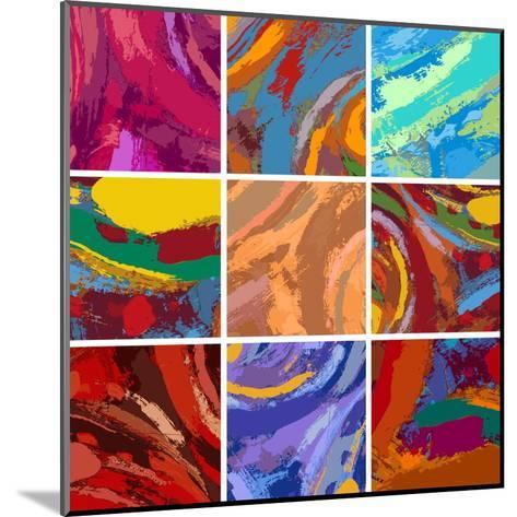 Abstract Painting Background Design Set-Igor Zakowski-Mounted Art Print