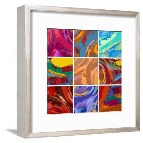Abstract Painting Background Design Set-Igor Zakowski-Framed Art Print