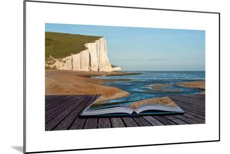 Creative Concept Image Of Seascape In Pages Of Book-Veneratio-Mounted Art Print