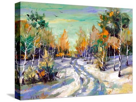 The Winter Landscape Executed By Oil On A Canvas-balaikin2009-Stretched Canvas Print