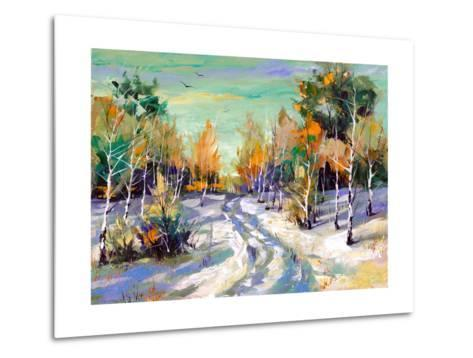 The Winter Landscape Executed By Oil On A Canvas-balaikin2009-Metal Print