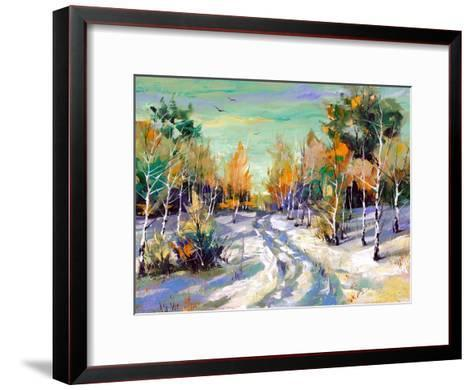 The Winter Landscape Executed By Oil On A Canvas-balaikin2009-Framed Art Print