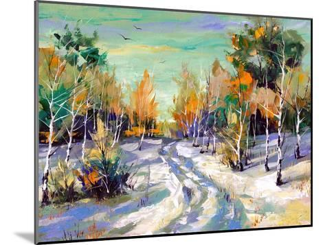 The Winter Landscape Executed By Oil On A Canvas-balaikin2009-Mounted Art Print