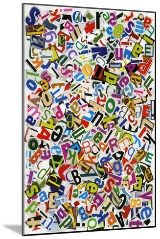 Handmade Alphabet Collage Of Magazine Letters-donatas1205-Mounted Art Print