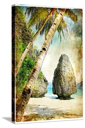 Tropical Nature - Artwork In Painting Style-Maugli-l-Stretched Canvas Print