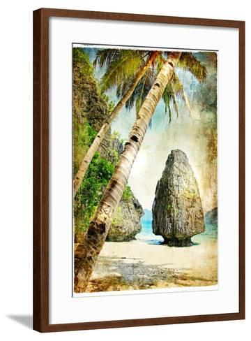 Tropical Nature - Artwork In Painting Style-Maugli-l-Framed Art Print
