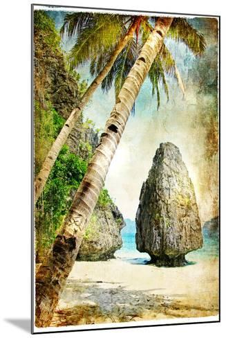 Tropical Nature - Artwork In Painting Style-Maugli-l-Mounted Art Print