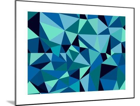 Abstract Geometric Pattern-cienpies-Mounted Art Print