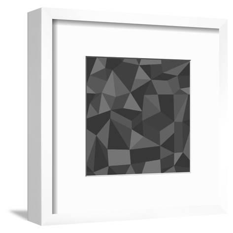 Gray Abstract Geometric Pattern-cienpies-Framed Art Print