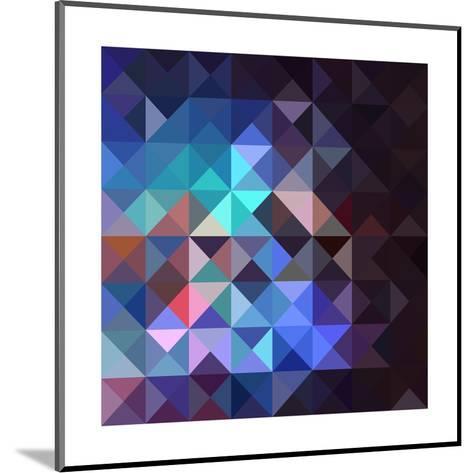 Gray Abstract Geometric Pattern-cienpies-Mounted Art Print