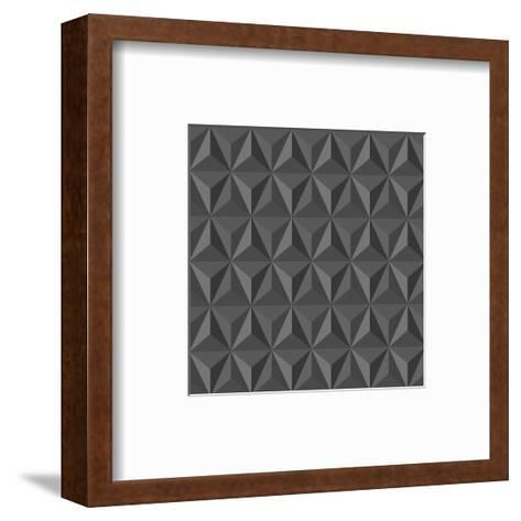 Gray Abstract Geometric Pattern-cienpies-Framed Art Print