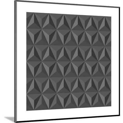 Gray Abstract Geometric Pattern-cienpies-Mounted Art Print