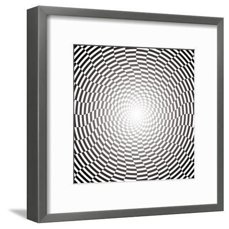 Optical Illusion Wallpaper:Raster Version-traffico-Framed Art Print